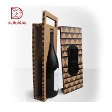 Boîte de cadeau de magnum de logo personnalisé de luxe d'OEM d'usine pour le verre de vin