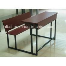 Escritorio de madera doble y silla de la alta calidad fijados para la venta