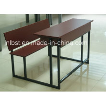 High Quality Double Wooden Desk and Chair Set for Sale