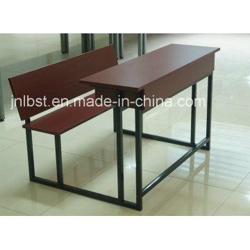 Ensemble de bureau et chaise en bois double qualité en vente
