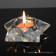 Decoración exquisita de la boda de la palmatoria de cristal