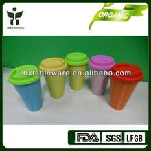 eco-friendly bamboo mug with lid