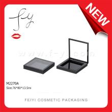 Fashion Single Square Black Clear Plastic Eye Shadow Container