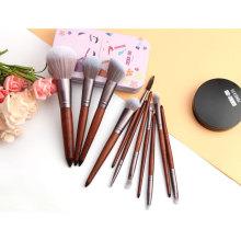 Premium Animal Hair Makeup Brushes Essential Set