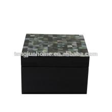 CBM-BPSBS Boîte à bijoux en perle noire avec peinture noire