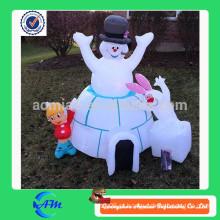 Modelo inflável de anúncio, homem inflável da neve do modelo da venda quente venda