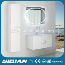 Чжэцзян подвесной зеркало со светом водонепроницаемый ванной белый бритвенный шкаф