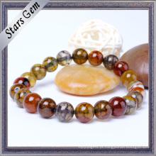 O colorido colorido natural ágata pulseira de pedra
