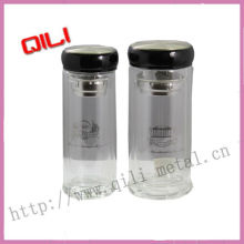 new style double wall glass mug for drinking