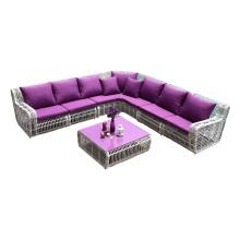 New design rattan sofa outdoor wicker sofa poly rattan furniture