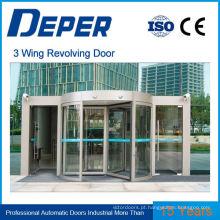 Porta giratória automática de 3 e 4 asas