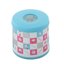 Caja redonda del tejido plástico bicolor (FF-5011-1)