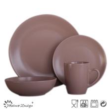 16PCS круглый матовый красочный керамический набор ужин