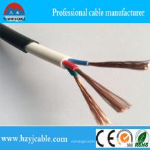 3 * 2.5mm2 3core PVC Изоляция Черный Jacket Rvv Круглый кабель