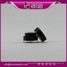 Embalagem redonda do recipiente cosmético acrílico da forma da cintura e fornecedor cosmético dos frascos plásticos