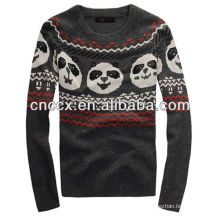 12STC0544 panda embellished knitting mens sweater