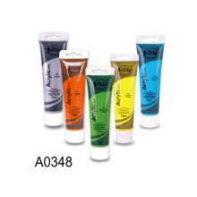 Hot selling Plastic tube package acrylic paint 75ml