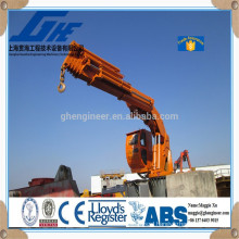 steel wire rope hydraulic marine ship crane