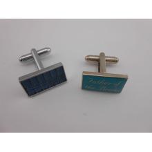 Quadratische kundenspezifische Metallmanschettenknöpfe Stampe Logo Manschettenknopf (GZHY-XK-015)
