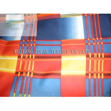 Polyester Printed Stretch Satin Fabric for Lady Dress