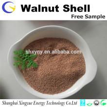 La fuente de la fábrica de alta calidad de 1-2 mm de cáscara de nuez granular para la separación de agua con aceite
