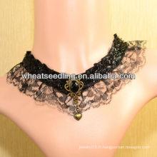2013 nouvel arrivé élégant collier de collier vintage en dentelle LS45