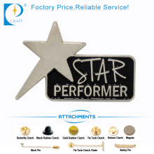 Star Performance Zinc Alloy Customized Pin Badge From China