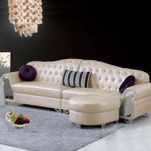 Apartamento pequeño de estilo europeo moderno salón sofá de la esquina de cuero