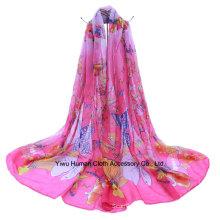 Bufanda bonita de la mariposa de la manera y lazo del infinito