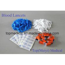 Lancetas de sangre Lancetas de torsión / acero inoxidable