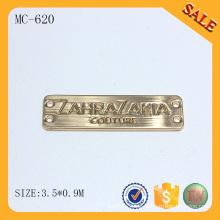 MC620 Gold Namensschild Logo Schöpfer benutzerdefinierte Metall Logo Stempel