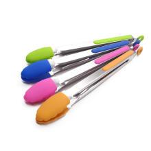 силиконовые кухонные щипцы с ручкой из нержавеющей стали