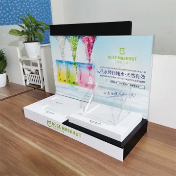 OEM customized printing high-end cosmetics display acrylic
