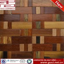 azulejo de mosaico rústico de diseño de la casa Azulejo de madera sólido rústico