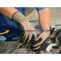 Calibre 13 Nylon et Spandex, gant de travail avec noir Sandy Nitrile sur la paume (N1613)