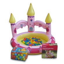 Inflatable Castle Pool, Made of PVC, with 0.25mm Thickness