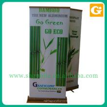 Roll Up Banner de bambu ou outro tamanho personalizado