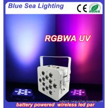 12pcs 18w 6in1 led uplighting wireless dmx led par