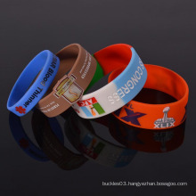 Customized silicone rubber wristband fabulous bracelets for promotion
