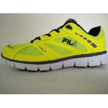 Men′s Fluorescent Yellow Sports Shoes