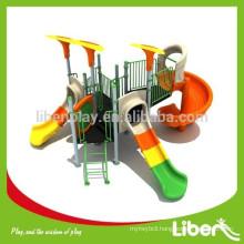 2015 Newest Design High Quality Children Amusement Park Outdoor Plastic Slides