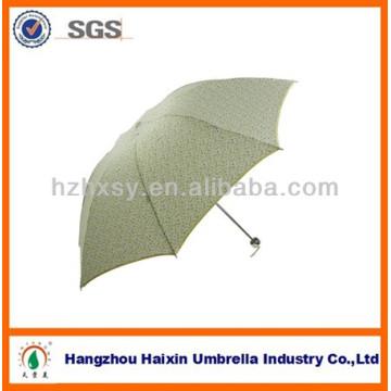 Pongé Tissu Brolly Chaud 3 Pliable Unbrella