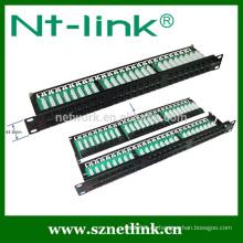1U 48 puerto cat5e cat6 utp panel de parche