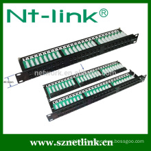 1U 48 port cat5e cat6 utp patch panel