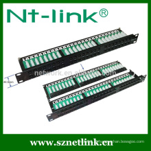 1U 48 porta cat5e cat6 utp patch panel