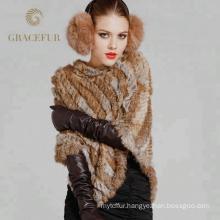 Best selling rabbit fur snood scarf shawl
