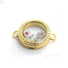 Мода ювелирные изделия Золотая цепь кристалл браслет из нержавеющей стали оптовая дизайн