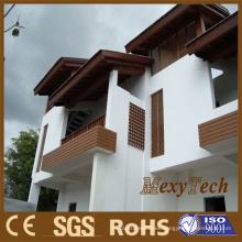 Panel de pared al aire libre del proveedor plástico de madera de Foshan, revestimiento compuesto de la pared de WPC