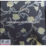 Decorative glass best price China supplier frosted glass wall