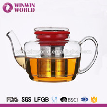 Hot Selling Stainless Steel Infuser Kitchenware Clear Glass Teapot